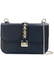 Valentino Chain Detail Shoulder Bag Blue