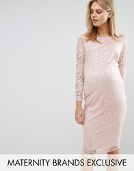 Queen Bee Lace Bodycon Dress Rose Pink