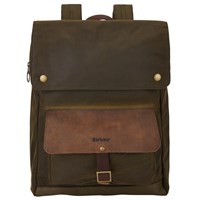 Barbour Wax Cotton Urban Backpack Olive