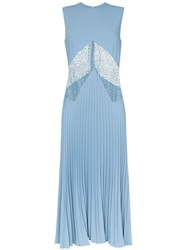 Beaufille Delaunay Lace Insert Dress Blue
