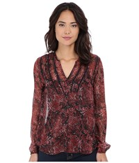 Volcom Catamaran Long Sleeve Top Bark Brown Women's Long Sleeve Button Up