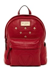 Valentino By Mario Valentino Diego Genuine Leather Backpack Red