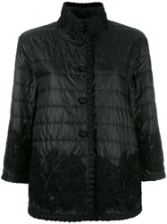 Ermanno Scervino Lace Detailing Quilted Jacket Black
