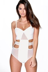 Naomi Cut Out Mesh Panel Body