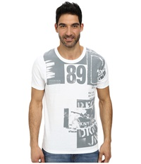 Dkny Short Sleeve Rock Collage Crew Neck Premium Tee White Men's T Shirt