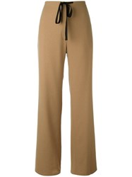 Paul Smith Ps By Drawstring Palazzo Pants Nude Neutrals