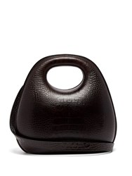 Lemaire Egg Crocodile Effect Leather Bag Brown