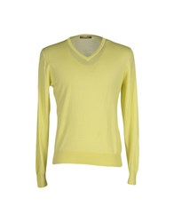 Andrea Fenzi Knitwear Jumpers Men Acid Green