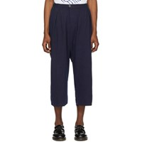 Blue Blue Japan Navy Double Gauze Hand Dyed Trousers