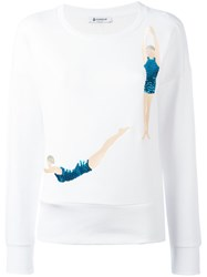 Dondup Sequin Swimmers Sweatshirt White