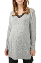 Topshop Women's Lace Trim Maternity Sweater