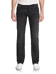 Cult Of Individuality Rebel Straight Leg Jeans Charcoal