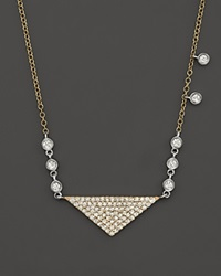 Meira T 14K Yellow Gold Triangle Pendant Necklace With Diamonds 15