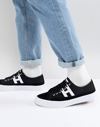 Huf Hupper 2 Lo Trainers In Black Black White