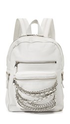 Ash Domino Small Backpack Off White