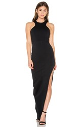 Donna Mizani Racer Front Slit Maxi Dress Black