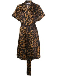 Alberto Biani Leopard Print Belted Dress 60