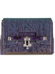 Kara Ross 'Lux Mini Box' Clutch Bag Blue