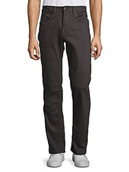 Buffalo David Bitton Straight Solid Pants Graphite