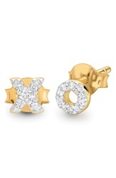 Missoma Pave Xo Stud Earrings Gold