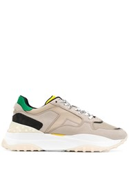 Tod's Colour Block Chunky Sneakers Neutrals