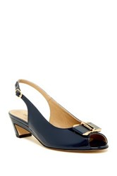 Vaneli Binge Open Toe Slingback Pump Very Narrow Width Available Blue