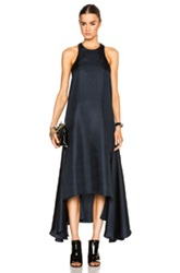Josh Goot Racer Back Dress In Blue