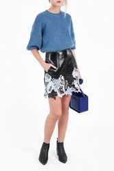 3.1 Phillip Lim Women S Vinyl Lace Skirt Boutique1 Black