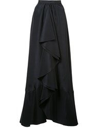 Tome Long Draped Skirt Women Polyester 0 Black