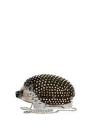 Judith Leiber Hedgehog Crystal Box Bag Black Multi