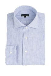 Baldessarini Linen Shirt Blue