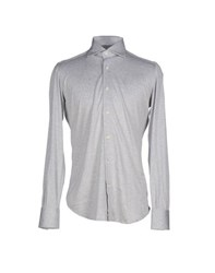 Mazzarelli Shirts Shirts Men Light Grey