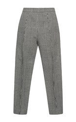Marni Tapered Micro Houndstooth Pant Brown