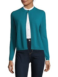Max Mara Cashmere Button Front Cardigan Turquoise