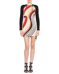 Emilio Pucci Long Sleeve Colorblock Mini Dress