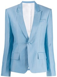 Haider Ackermann Tailored Single Breasted Blazer Blue