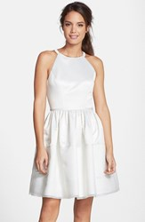 Women's Erin Erin Fetherston 'Savannah' Satin Fit And Flare Dress