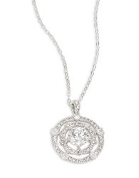 Nadri Cubic Zirconia Circle Pendant Necklace Silver