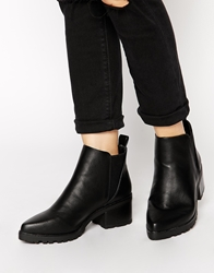 Truffle Collection Fawn Point Chelsea Boots Blackpu