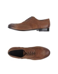 Emporio Armani Lace Up Shoes Brown