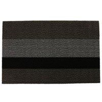 Chilewich Large Stripe Shag Rug Silver Black 46X71cm