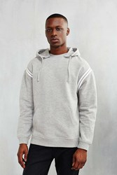 Bdg Athletic Stripe Hoodie Sweatshirt Grey