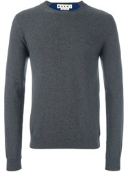 Marni Crew Neck Jumper Grey