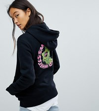 Santa Cruz Hoodie With Logo Back Print Black