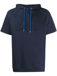 Hugo Boss Short Sleeved Hoodie Blue