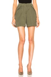 Monse Cotton Canvas Shorts In Green