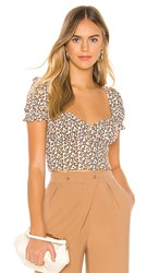 Privacy Please Edith Top In Brown. Cheetah