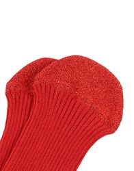 Momoni Short Socks Red