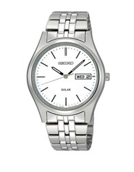 Seiko Mens Silvertone Functional Solar Watch