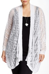 14Th And Union Easy Open Cardigan Plus Size White